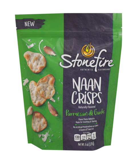 Garlic & Cheese Naan Crisps